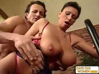 exotic sexy looking mature gets the dong in her