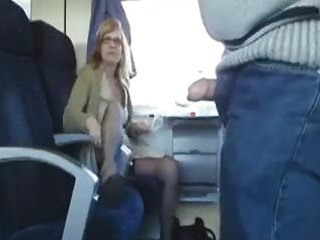 public sex in the educate with breasty milf