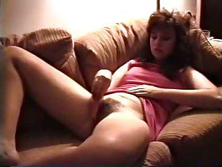vintage milf masturbates hirsute bawdy cleft with