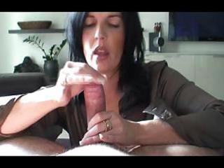 breasty brunette milf enjoys giving her man a