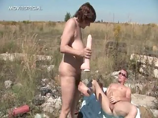 sexually excited milf gets her hairy muf fucked