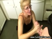 intense handjob from mature lady for young boys