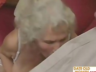 sexually excited grandma felt up and screwed hard