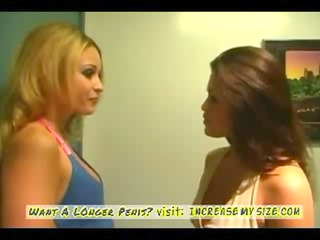 two milfs first time lesbo