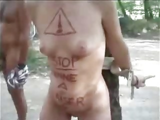 my horny bitch used in nudist camping