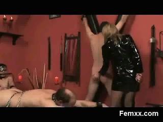 arrogant mature in bizarre femdom fetish sex