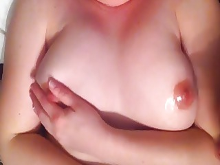wife cook jerking with cum on tits