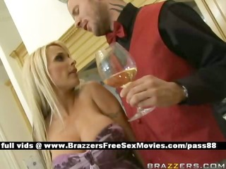 charming blonde whore in the kitchen