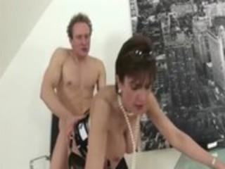 older stocking fetish slut hard fucking