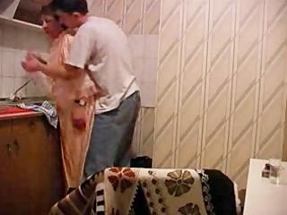 granny receives screwed in kitchen