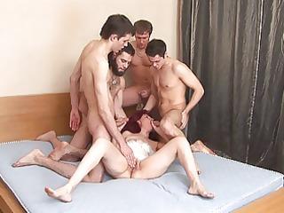 russian mature janna team fuck part 4