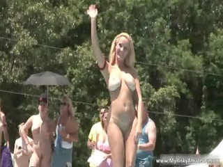 hot blond and brunette milf showing