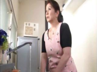 japanese aged housewife does an old chap and a