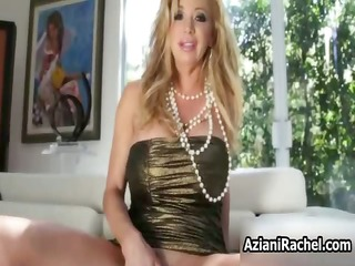 busty blonde babe goes mad vibrator part4