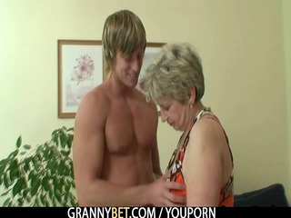 old housewife receives nailed by an youthful boy