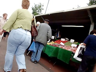 large ass granny jeans