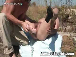 horny mother i gets her hairy muf fucked part9