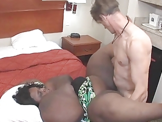 black bbw-mom with glasses takes it is all