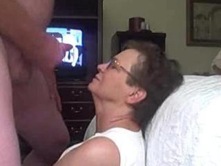 granny receives a facial