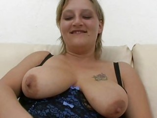 chubby non-professional milf sucks and fucks with