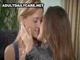 charming aged lesbian seduces juvenile gal -