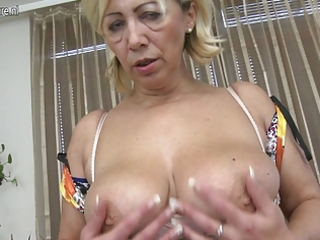 mature slut mom masturbate alone