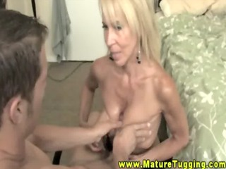 golden-haired mature milf and her legal age