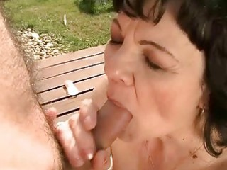 granny getting fucked outdoor