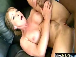 sexy milf fucking hard by giant mamba black cock
