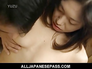 miku shows off her pretty unshaved muff