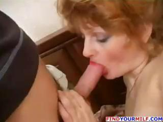 redhead nasty older hooker and young guy
