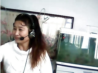 chinese milf shows breast and pants