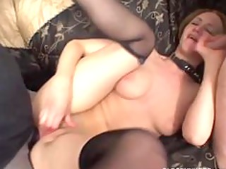 kinky milf in anal three-some
