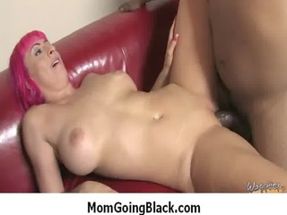 white milf copulates black cock mature