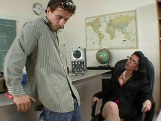 badass milf does oral-sex and titsjob for student