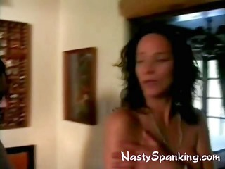 two housewives getting spanked