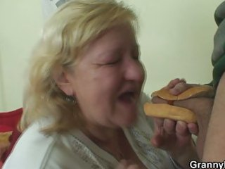 nice hot-dog for chunky granny