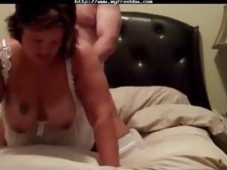 big beautiful woman wife rammed in white stockings