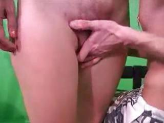 short-haired russian blonde milf does a chap