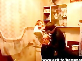 2 drunk russian moms fucked at party