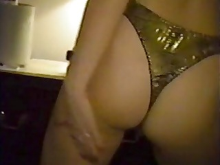 blond whore stripping and flaunting her hairy