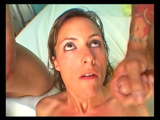 horny d like to fuck gets a double facial