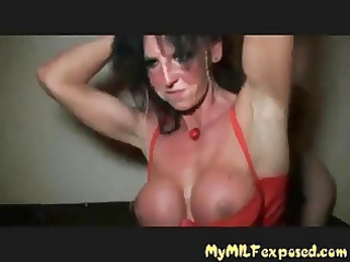 filthy wench mother i gangbang party red boots