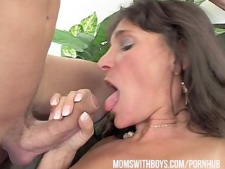 mama rewards two boys' hard work with sexy dp
