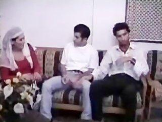 arabian muslim milf banged in group sex by 0