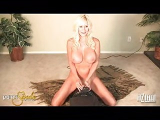 sexy breasty milf puma swede rides her hole on a