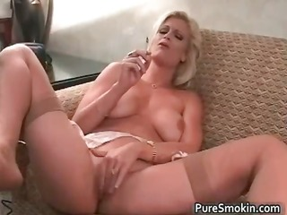 brooke smokes and rubs her cunt part5
