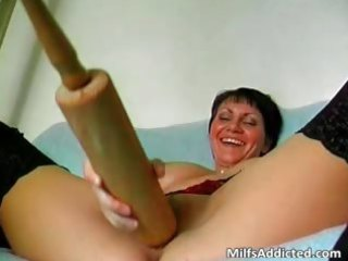 perverted short haired mom is mad as she part6
