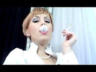 mature women smoking