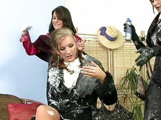 classy milf ladies having group lesbo sex